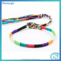 fancy 2015 friendship bangles thread woven bead bracelet