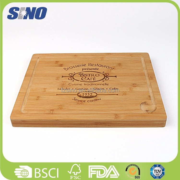 Eco-friendly Bamboo Craft Hanging Fabrics Cutting Board