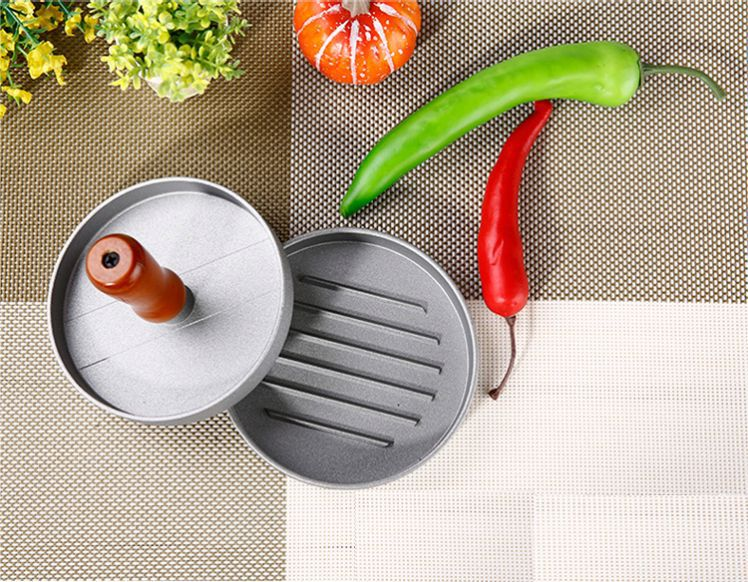 Adjustable single non-stick coating aluminum alloy burger press