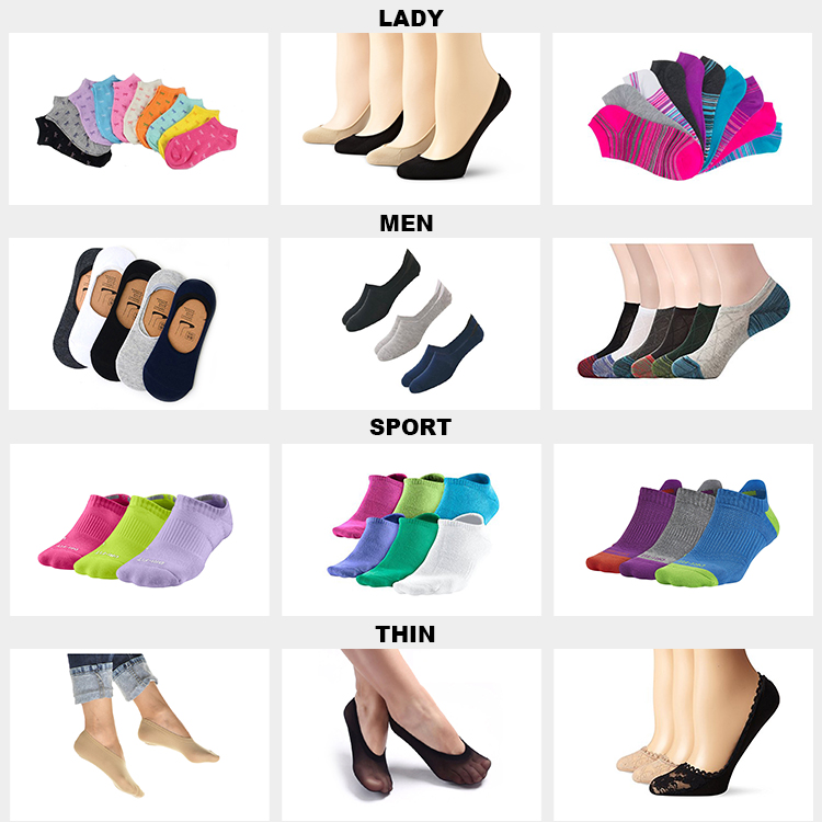 BY-II-0264 footie chaussettes hommes hommes invisibles chaussettes hommes pas de chaussettes