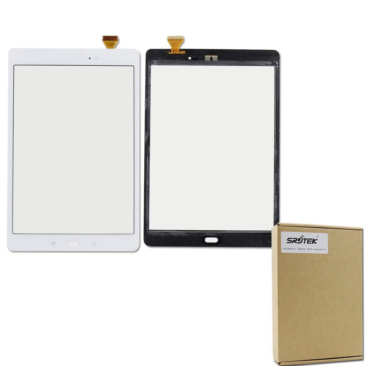 Srjtek Touch Screen Digitizer Replacement Parts for Samsung Galaxy Tab A 9.7,(9.7'') Touch Screen Digitizer Sensor for SM-T550 T550 T551 T555(White)