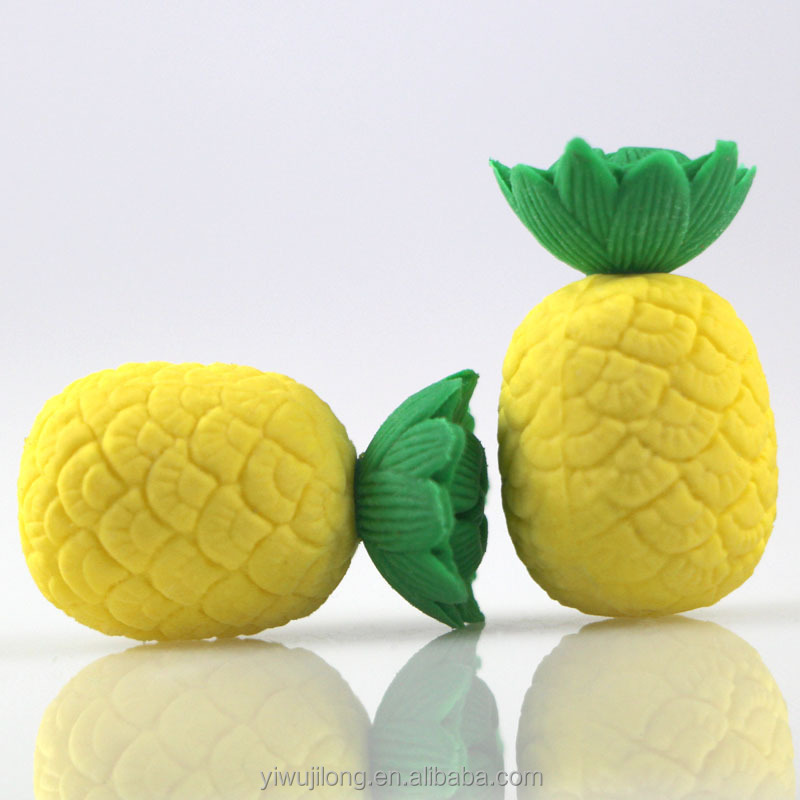 En gros Chine 3d design ananas fruits gomme