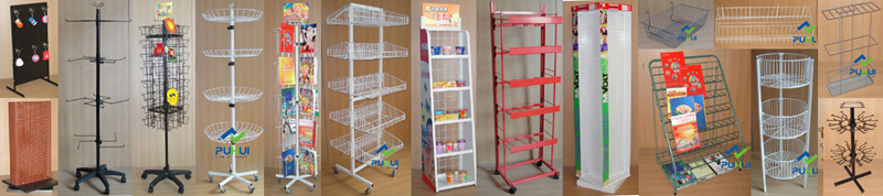 floor standing retail shop fixture promotion multi layer shelf metal  display rack for trays exposition