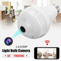 360 Panoramic Bulb camera home indoor HD WiFi security camera surveillance