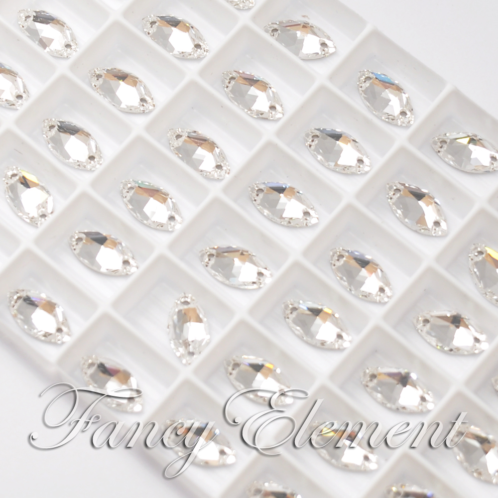 L'originale di Swarovski Elements 12x6mm Clear (001) Navette Pietra
