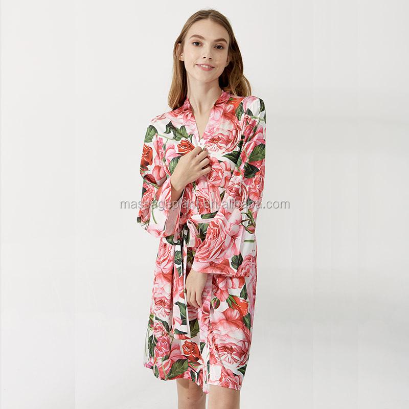 2017 Nuevo Diseño Kimono Satinado Vestido De Dama Para La Boda De La ...