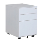 China supplier s office equipment Steel 3 drawer lockable mobile document storage pedestal file cabinet