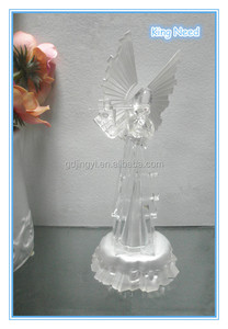 Acrylic LED elegance angel play the violin Christmas decorations