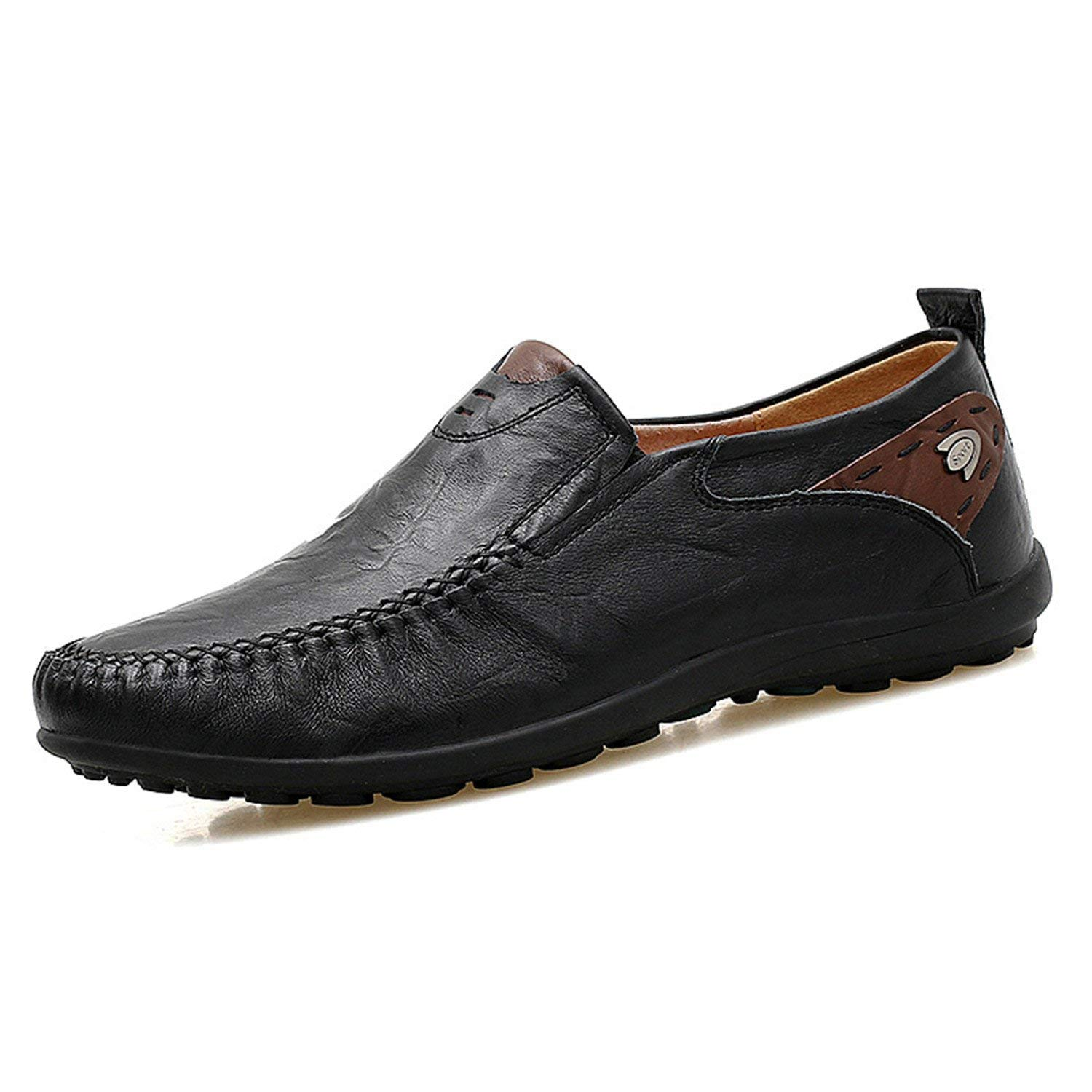 Orcan Bluce Big Size 38-47 Split Leather Men Casual Shoes Fashion Driving Slip on Loafers Flat Shoes