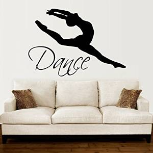 Home Decor Gymnastic Dance Girl Inspirational Quote Wall Decal Kids Room Nursery Ballet Love Passion Quote Wall Sticker Bedroom Vinyl Decor In Many Styles Home & Garden