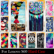 For LENOVO S60 S60T Case Hard Plastic Mobile Phone Cover Case DIY Color Paitn Cellphone Bag Shell  Shipping Free