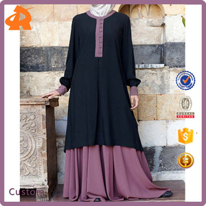 Hot Sale Middle East Islam Muslim Abaya One Piece Dresses for Women Elegant, Andalib Tunic for Egypt Dubai and Saudi Arabia