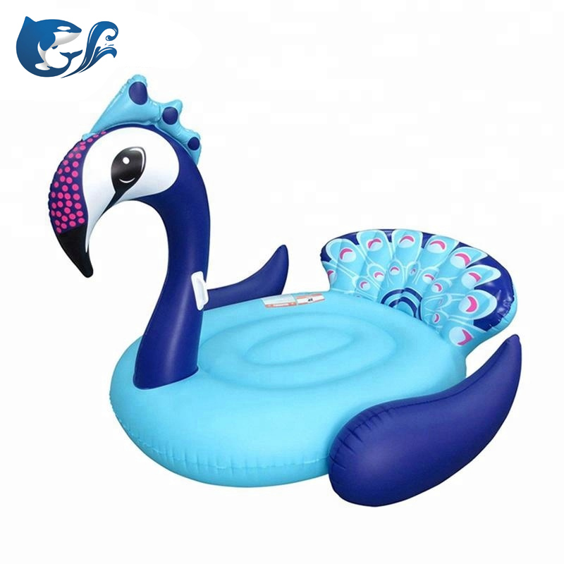 "Extra Large Summer Blow Up Water Giant Peacock Inflatable Pool Float 72"" Toy Rider"