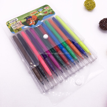 plastic pack washable ink kids drawing watercolor marker set