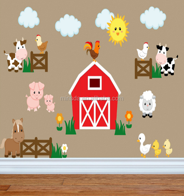 Animal Farm Wall Stickers Euro The Farm Vinyl Wall Decal