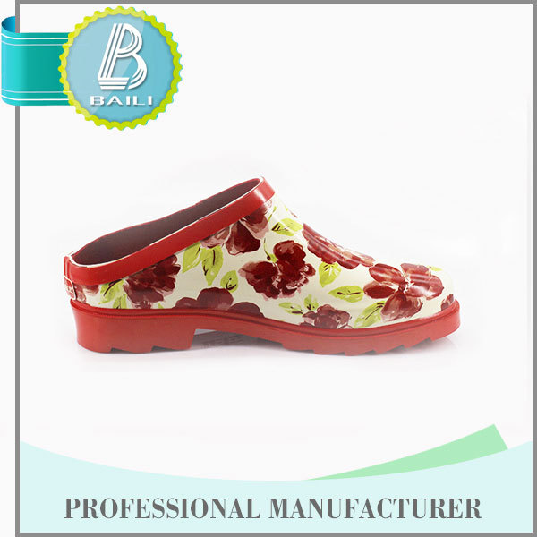 Alibaba china Useful Environmental Summer white pvc rain shoes without steel toe