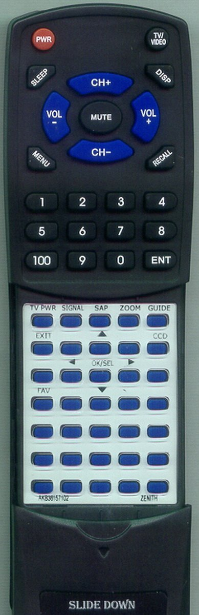 ZENITH Replacement Remote Control for DTT900, DTT901, E225515, DDT901, AKB36157102