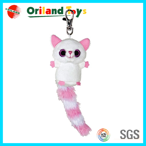Promotional cheap custom cute plush wolf keychain toys