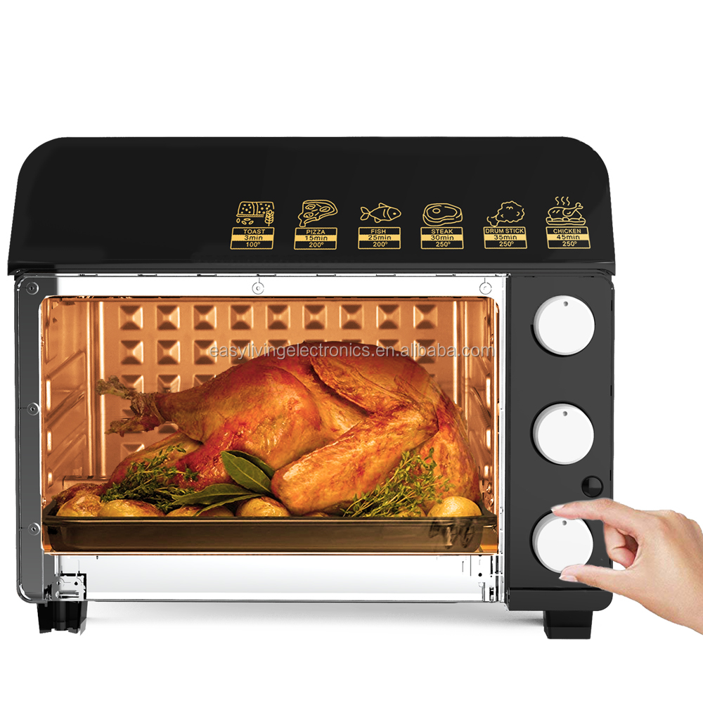 Air Fryer Oven - Air fryer/Rotiserie/Dehydrator/Oven, 6 in 1 cooking features, steel inner cabinet food safety