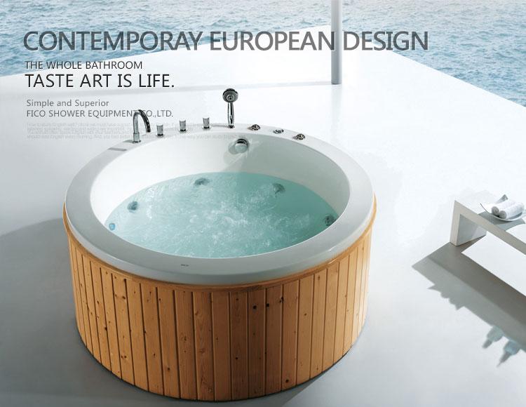 Botte di legno vasca da bagno con funzione jacuzzi vasca da bagno