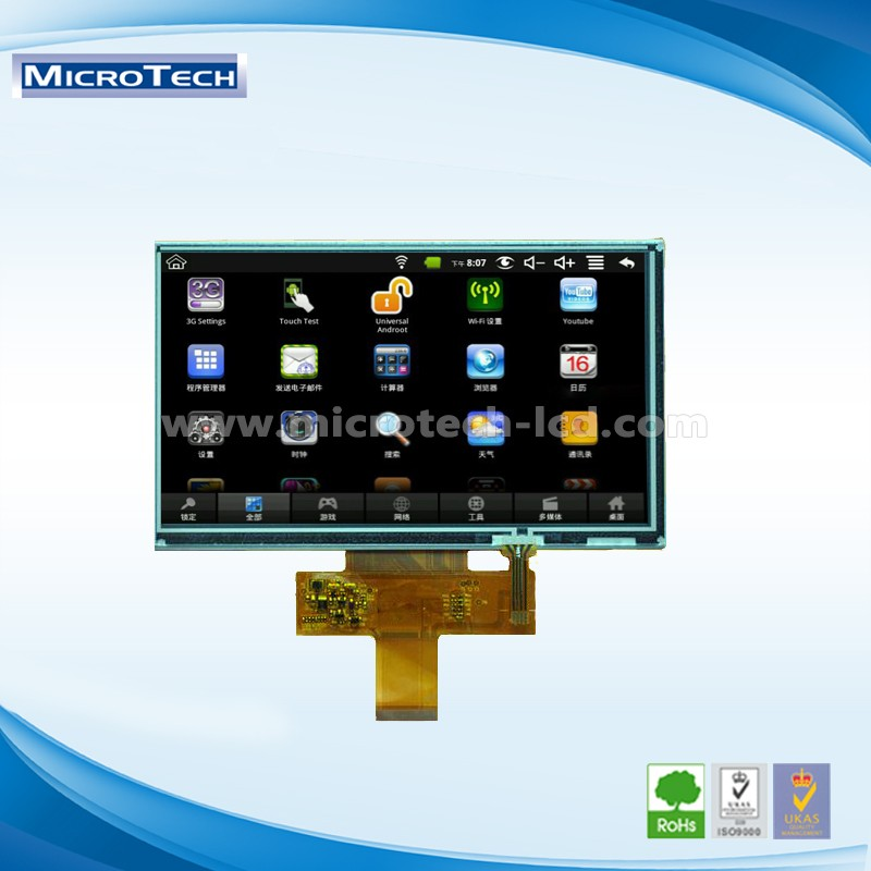 5.6 inch LCD monitor RGB interface 50 pin R/CTP