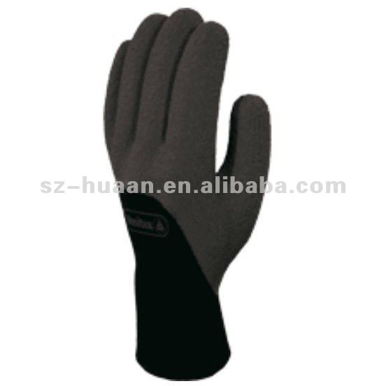 PVC coated palm fingers docker gloves in winter or cold area