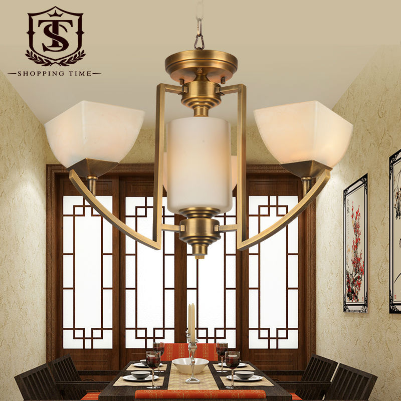 Small Chandeliers For Dining Room: Modern Copper Small Chandelier 3 Lights Brass Lighting