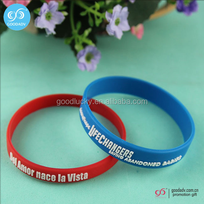 Silicon customized hand band with logo / plastic wrist band