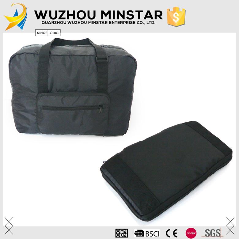 c74ba3e0b5 Easily Carry One Day Trip Black Duffle Travel Folding Bag - Buy ...