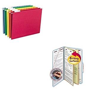 KITSMD19030SMD64059 - Value Kit - Smead Pressboard Classification Folders (SMD19030) and Smead Hanging File Folders (SMD64059)