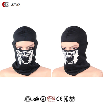 Skull Head hat cap bonnet balaclava masks Outdoor Neck Hood Sports Black  Cosplay Full Face Mask b30b4adb4ca