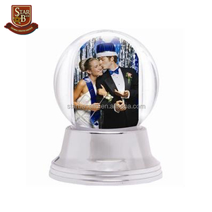 Portable nice wholesale custom acrylic cheap photo snow globe