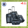 New Design Aluminum Trolley TSA Lock Grey Color PU Light Weight Soft Handle Luggage Set Trolley
