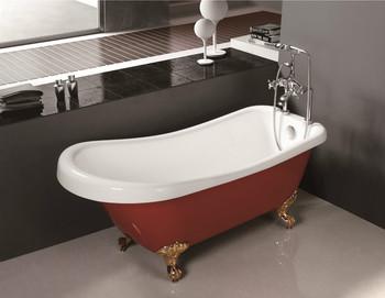 Vasca Da Bagno Piedini : Mobile vasca con i piedini a buon mercato free standing rosso