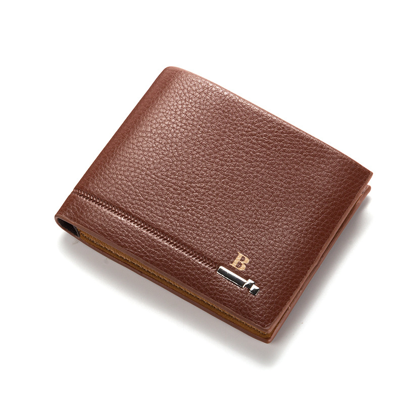 Wholesale high quality casual business mens luxury document handmade pu leather <strong>wallet</strong>