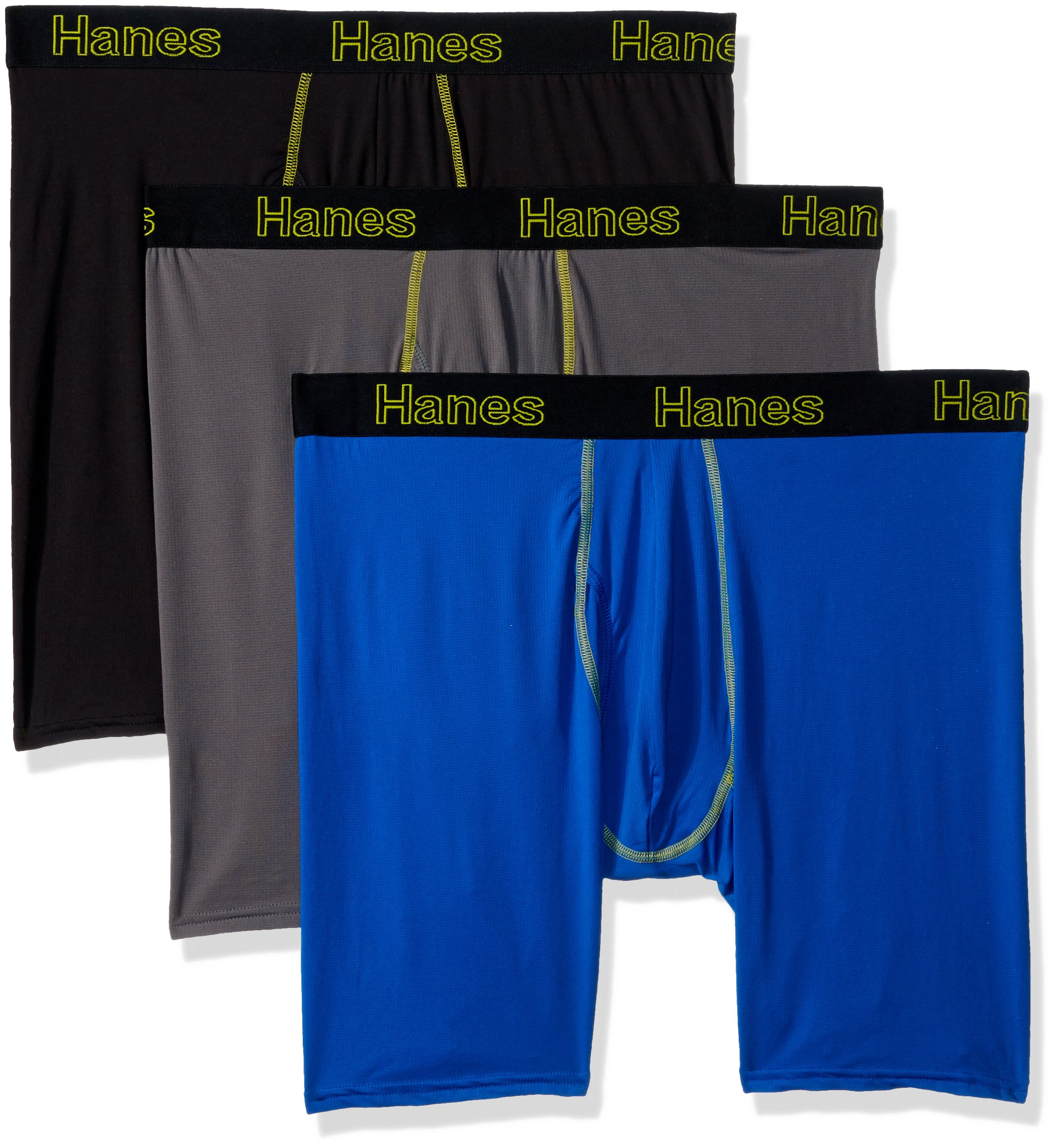 Hanes Men's 3-Pack Comfort Flex Fit Ultra Lightweight Mesh Boxer Brief