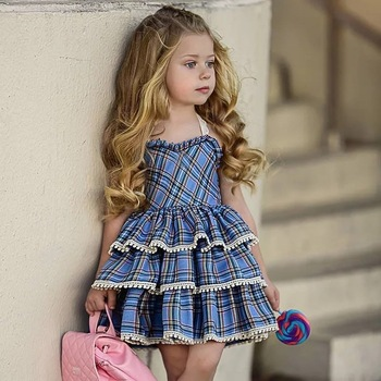 kids baby girl dress casual plaid christmas dress new autumn infant girls clothes vestidos children tutu - Plaid Christmas Dress