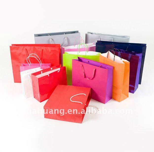 colorful rope handle bags for shopping