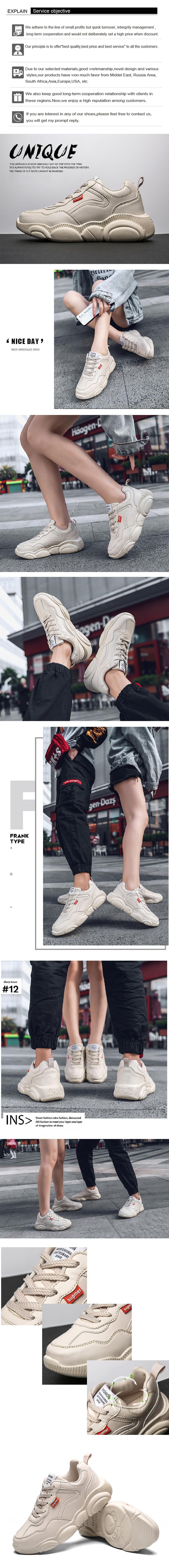 2019 nuova tendenza della moda orso suola ultima piattaforma retro DELL'UNITÀ di elaborazione di cuoio di autunno della molla donne casuali scarpe da tennis di sport su misura