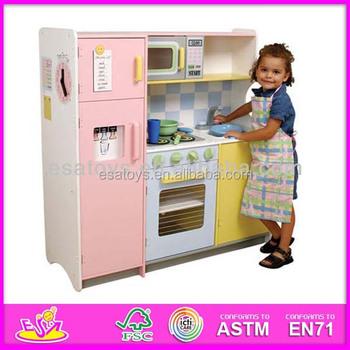 2017 New And Por Wooden Kids Kitchen Toy Children Play Fridge Washing