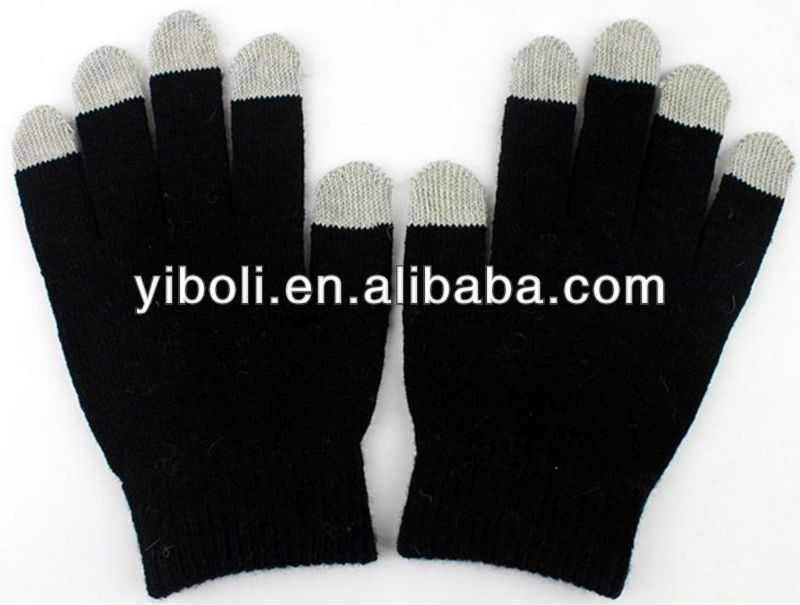 Antibacterial Single color anti-rediation gloves touch sreen gloves phone gloves