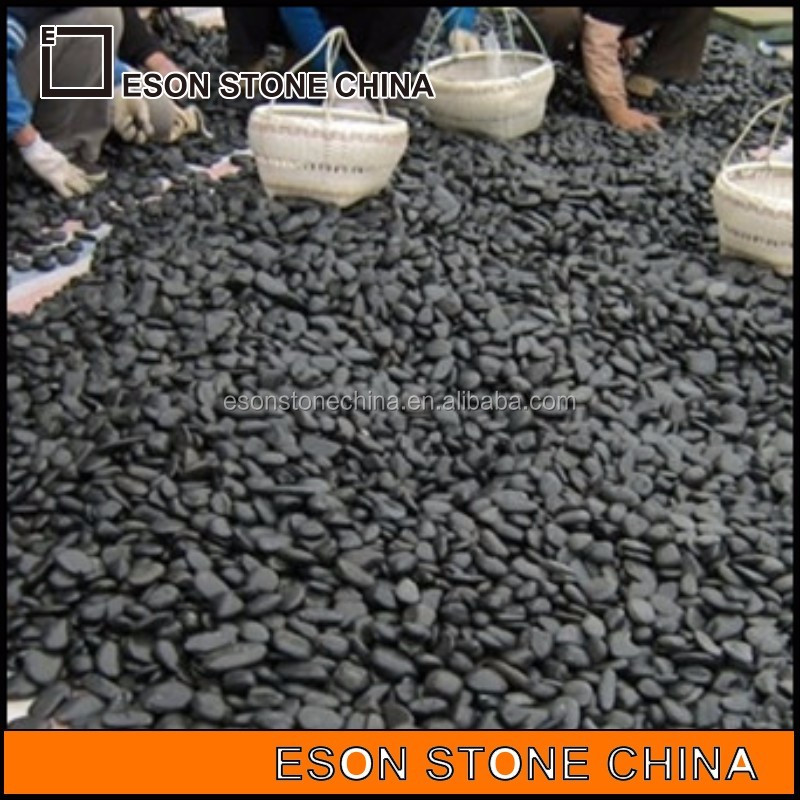 eson piedra natural negro piedras de ro de guijarros de piedra para el jardn