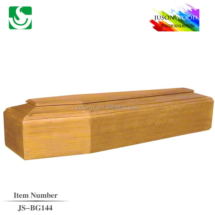 High quality simple cheap wooden coffin