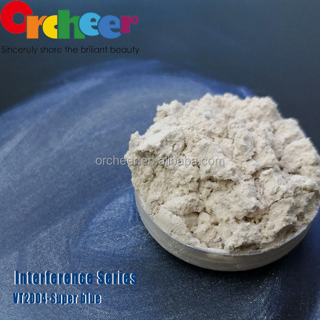 2018 super blue interference series pearl powder pigment for cosmetics pearlescent pigment