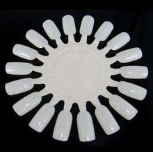 New 2015 2/5/10P Nail Art Tips Make Up Practice Round Wheel Polish  Display Natural