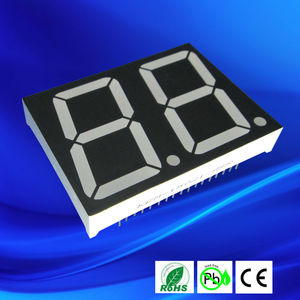 1.5 inch white epoxy 2 digit 7 segment led display sign blue color