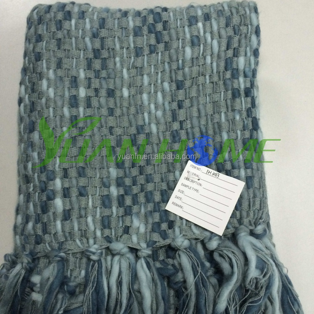 100% Acrylic Knitted Throw for Fashion (YH-3053)