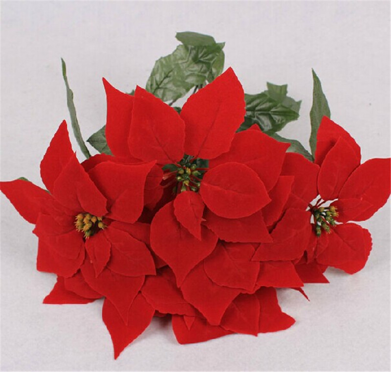 Small artificial poinsettia flowers wholesale artificial small artificial poinsettia flowers wholesale artificial poinsettias suppliers alibaba mightylinksfo