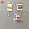 Simple Orange new design metal iron white heart shaped home decorative wall hanging picture photo frames