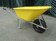 Heavy duty plastic tray Wheelbarrow with super strong chasis